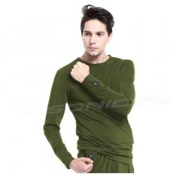 Ogrzewana koszulka 3 tryby grzania GJ1C GLOVii grzejąca bluza zielona
