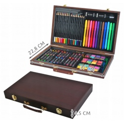 Zestaw do malowania rysowania walizka kredki farby 81 elementów