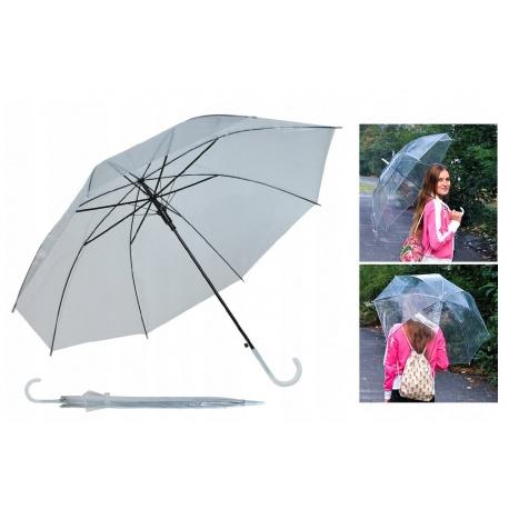 Parasol parasolka przezroczysta transparentna automatyczna mocna