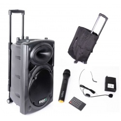 Kolumna mobilna Ibiza Sound PORT12VHF-BT wbudowany wzmacniacz funkcja bluetooth gratis pokrowiec
