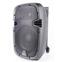 Mobilny zestaw nagłośnieniowy Ibiza Sound odtwarzacz MP3 Bluetooth z mikrofonem na kółkach