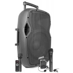 Kolumna mobilna Vonyx AP1200PA 12 calowy głośnik moc 600W body pack z mikrofonem nagłownym