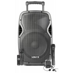 Kolumna mobilna AP1200PA głośnik 600W body pack z mikrofonem nagłownym