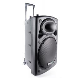 Przenośna kolumna na kółkach z teleskopową rączką 800W Bluetooth wzmacniacz Ibiza Sound