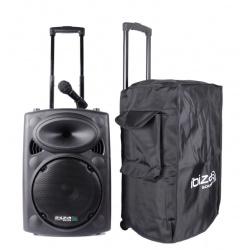 Kolumna mobilna Ibiza PORT15VHF-BT pokrowiec zestaw głośników na kólkach