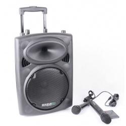 Aktywna kolumna mobilna Ibiza Sound PORT10UHF-BT z odtwarzaczem MP3 SD US tunerem FM oraz odbiornikiem