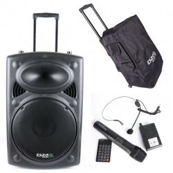 Aktywna kolumna mobilna Ibiza Sound odtwarzacz MP3 SD USB tunerem Bluetooth