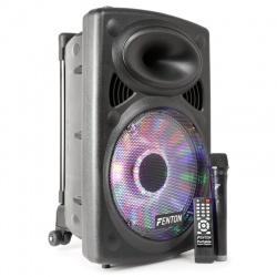 Mobilny zestaw nagłośnieniowy FENTON FPS12 wejście audio port USB karty micro-SD
