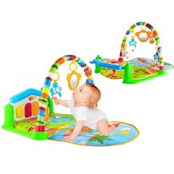 Mata edukacyjna organki dla niemowląt małpki z pianinkiem 2 kolory