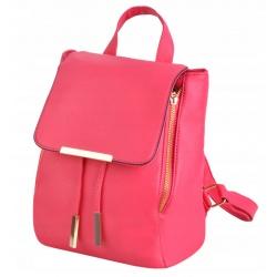 Stylowy plecak damski mały ale pojemny elegancki eko skóra różowy