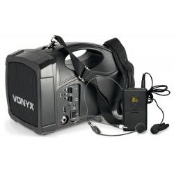 Bezprzewodowe nagłośnienie głośnik na ramię Vonyx ST-012 PA Bluetooth na pielgrzymki