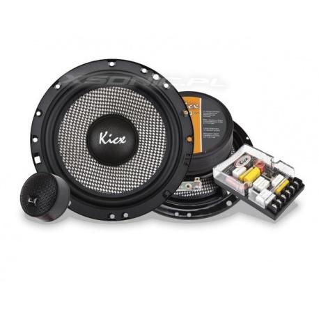 Głośniki samochodowe zestaw Kicx 100W 165mm zwrotnice syczki GFQ 6.2