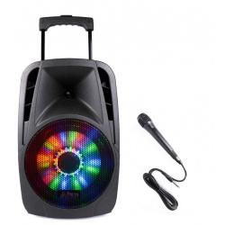 Kolumna mobilna z oświetleniem LED nagłośnienie mobilne z odtwarzaczem USB Bluetooth