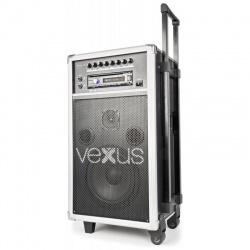 Mobilny zestaw nagłośnieniowy VEXUS ST110 o mocy 250W z akumulatorem odtwarzaczem CD MP3 mikrofonem