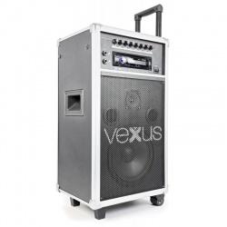 Nagłośnienie mobilne VEXUS ST110 250W z akumulatorem odtwarzaczem CD MP3 mikrofon