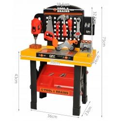 Duży warsztat dla chłopca zestaw narzędzia klocki zabawka do składania