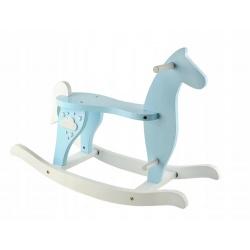 Drewniany koń na biegunach konik bujany bujak dla dzieci 2 kolory