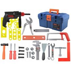 Skrzynka z narzędziami dla dzieci wiertarka młotek plastikowe narzędzia