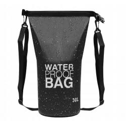 Duży worek wodoodporny wodoszczelny torba na kajak 30l pasek sportowy