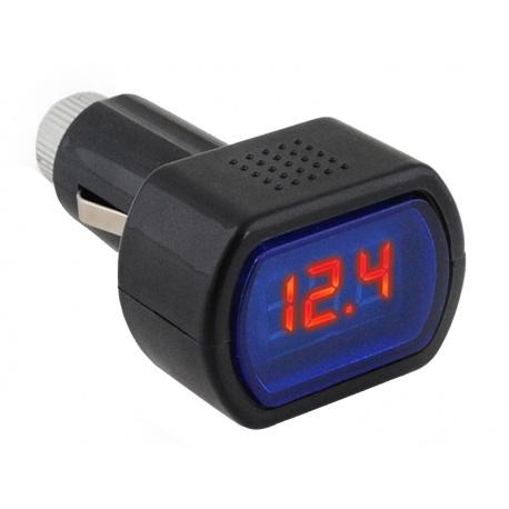 Woltomierz samochodowy tester do zapalniczki miernik akumulatora 12/24V