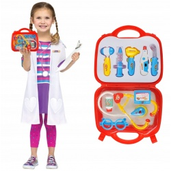 Zestaw małego doktora dla dzieci mały lekarz 10 elementów w walizce