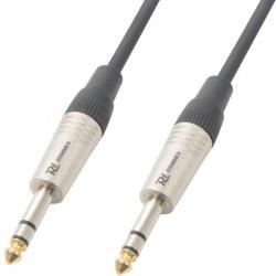 Kabel sygnałowy JACK 6.3 stereo - JACK 6.3 stereo PD Connex długość 1,5 metra