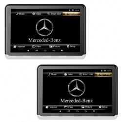 Monitory samochodowe 10,1 cala HD na zagłówki komplet zagłówek LCD z logo marki