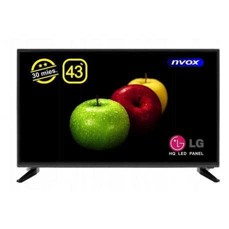 Telewizor LED 43 cale matryca Full HD DVBT/C USB 3xHDMI PVR MPEG-4/2