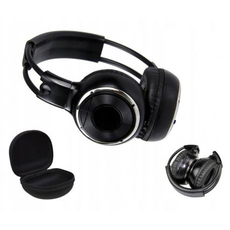 Słuchawki bezprzewodowe na podczerwień IR w zestawie twardy futerał