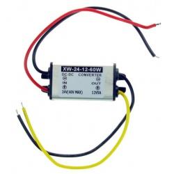 Redukcja napięcia reduktor z 24V na 12V 24V/12V moc 60W prąd 5A