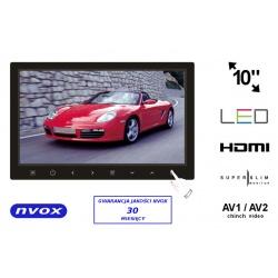 Monitor samochodowy 10 cali LED HD HDMI AV1/AV2 12V super cienki SLIM