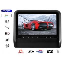 Monitor na zagłówek 9 cali odtwarzacz DVD samochodowy przenośny DVD IR FM