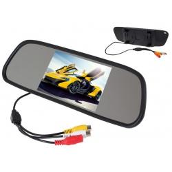 Nakładka na lusterko samochodowe z wyświetlaczem ekran 5 cali NVOX 2x AV