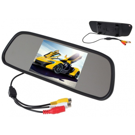 Nakładka na lusterko samochodowe ekran 5 cali NVOX dwa wejścia AV