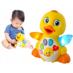 Edukacyjna kaczuszka zabawka dla dzieci kaczka śpiewająca tańczy