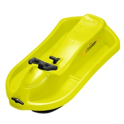 Plastikowe sanki śnieżny skuter żółty z kierownicą i hamulcem ręcznym EDA