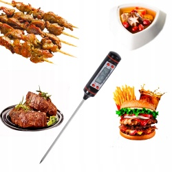 Elektroniczny termometr do żywności szpilkowy potraw metalowa sonda szpikulec