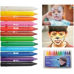 Kredki do malowania twarzy dla dzieci do kibicowania 12 Kolorów