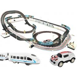 Tor samochodowy duży wyścigowy kolejka elektryczna pociąg 630cm