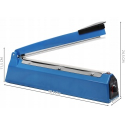 Zgrzewarka do folii długość 300mm 2mm regulacja czasu zgrzewania