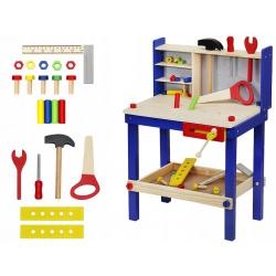 Warsztat drewniany narzędzia dla dzieci stół warsztatowy śruby nakrętki