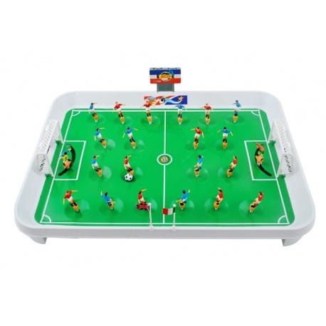 Piłkarzyki stołowe sprężynowe gra dla dzieci z dawnych lat w wersji XL
