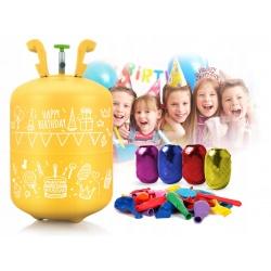 Butla z Helem 0,25 m3 balony 30x wstążka 40m HEL do balonów