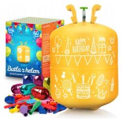 Butla z Helem 0,42 m3 balony 50x wstążka 60m HEL do balonów