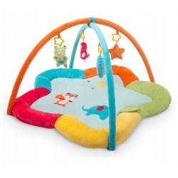 Mata edukacyjna dla niemowląt miękka pluszowa 85 x 50 cm Ricokids zwierzątka