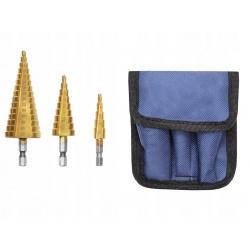 Zestaw wierteł stożkowych wiertło choinkowe 3 sztuki 4-32mm pogłębiacze stożkowe