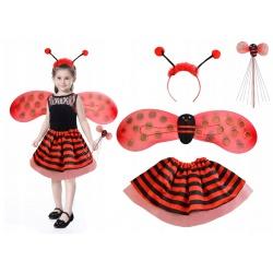 Kostium Biedronka dla dziewczynki strój skrzydła 4w1 komplet