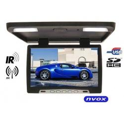 Monitor podsufitowy 17 cali LCD Glare transmiter IR FM złacze VGA podwieszany