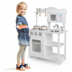 Kuchnia drewniana zabawkowa kuchenka Ricokids meble garnki dla dzieci zlew