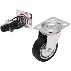"""Koło metalowe kółko obrotowe przykręcane Fi 75mm 3"""" calowe kółka do wózka"""